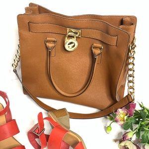 Michael Kors | Large Hamilton Tan Hand Bag Gold